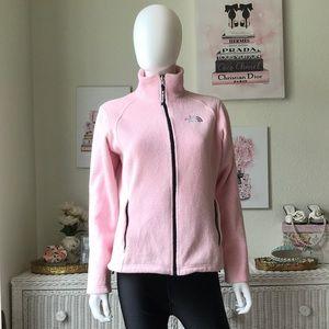 The North Face polartec pink fleece jacket Small